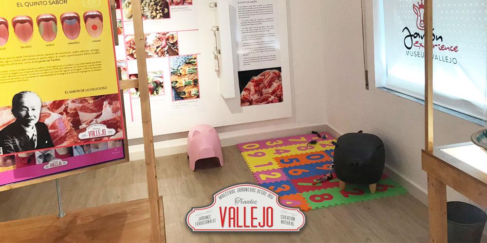 Zona recreativa de actividades con niños del Secadero de jamones Vallejo en Trevélez