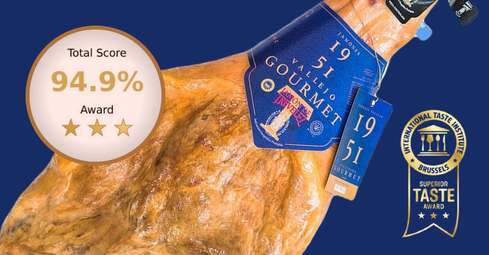 En Jamones Vallejo volvemos a ser galardonados por el International Taste Institute